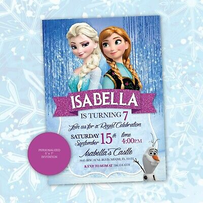 It's just an image of Zany Frozen Invites Printable
