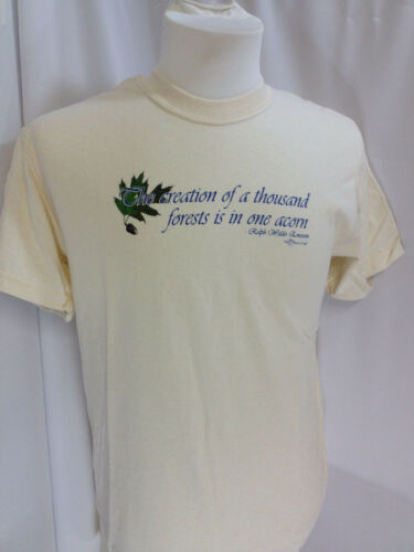 Conservation T-SHIRT One Acorn Tree S M L XL XXL NWT Creation Thousand Forests