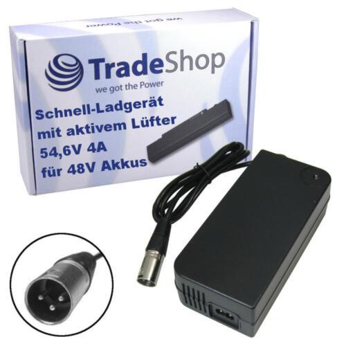 4 a rapidement-Chargeur 3pin XLR Connecteur pour 48 V E-Bike Pedelec Bloc d/'alimentation 54,6 V