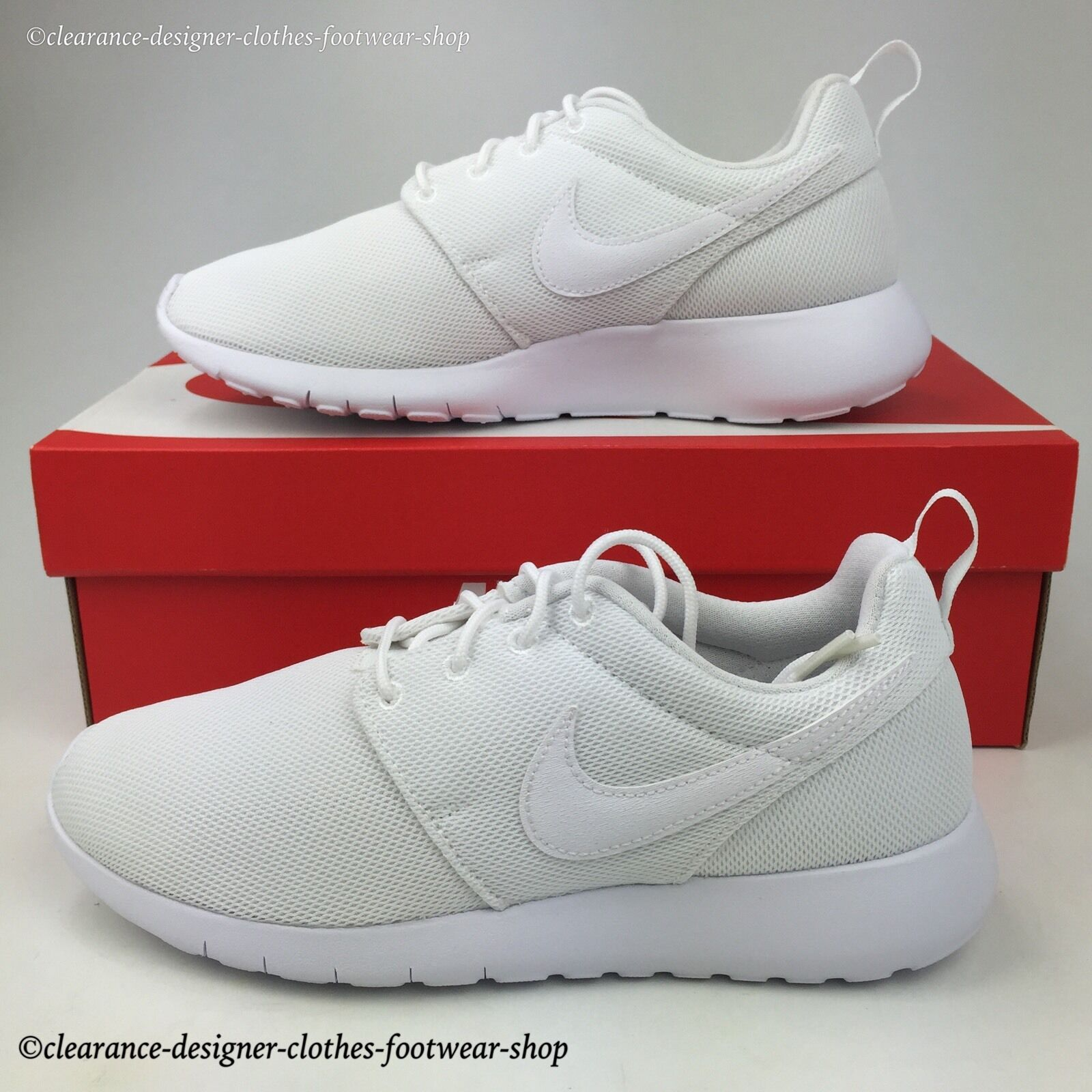 NIKE ROSHE ONE GS TRAINERS ROSHE RUN TRIPLE Weiß damen GIRLS GYM schuhe
