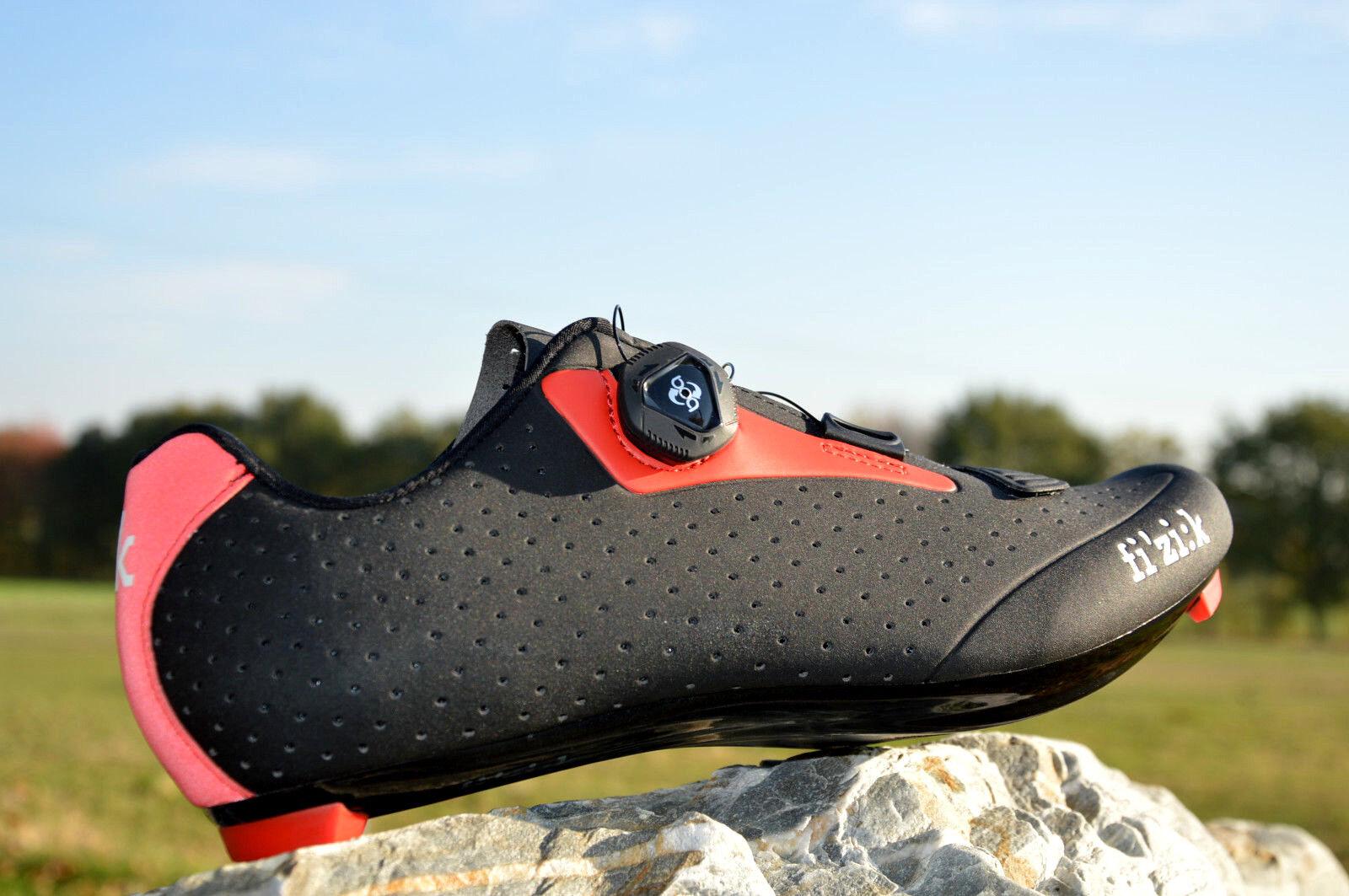 Fizik r5 boa man bicicleta de carreras zapatos carbon reforzada reforzada reforzada nylon suela negro rojo%%%  los nuevos estilos calientes