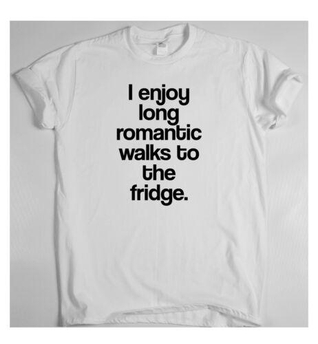 J/'aime bien les promenades romantiques pour le frigo génial Drôle T Shirt Humour Tee vigne