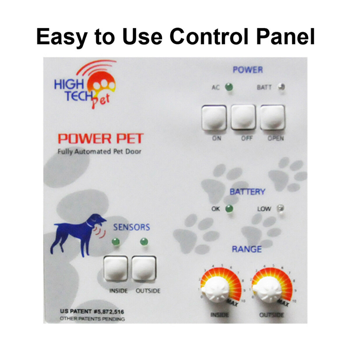 Power Pet  Md Automt'c Sldng Gls LowE Pet Door-FACTORY Door-FACTORY Door-FACTORY DIRECT From HIGH TECH PET 860012