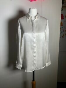 factory vente de sortie célèbre marque de designer Détails sur Haut femme Zara Satin Chemise Taille XS- afficher le titre  d'origine