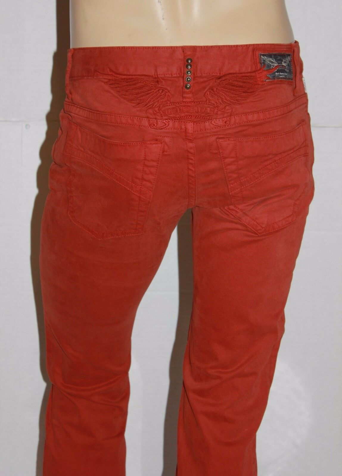 New Men'S ROBIN'S JEAN Style  SP5471 MARLON Straight Leg Pants Jeans - orange