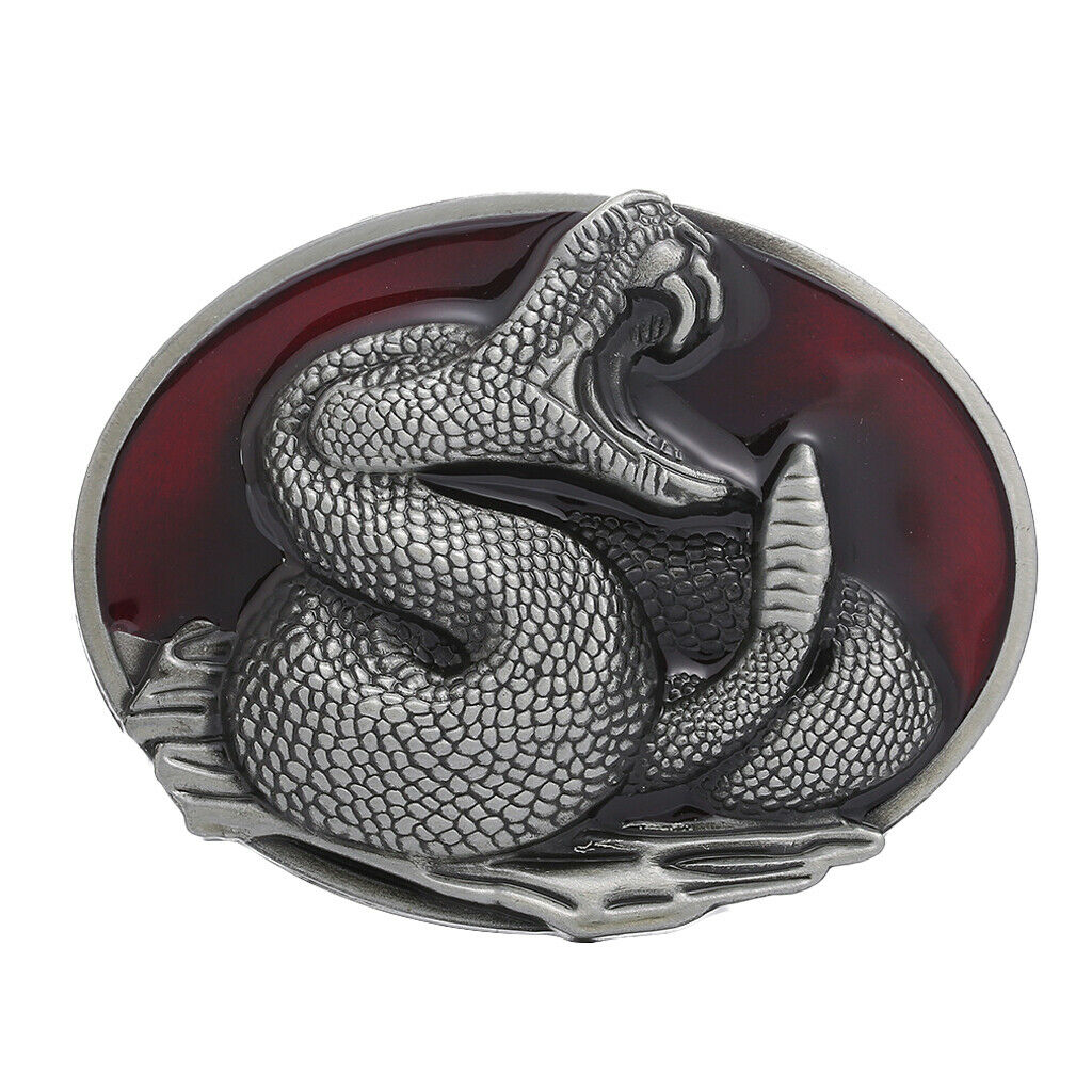 Mode Western Herren Gürtelschnalle Schlange Klapperschlange Muster Metall