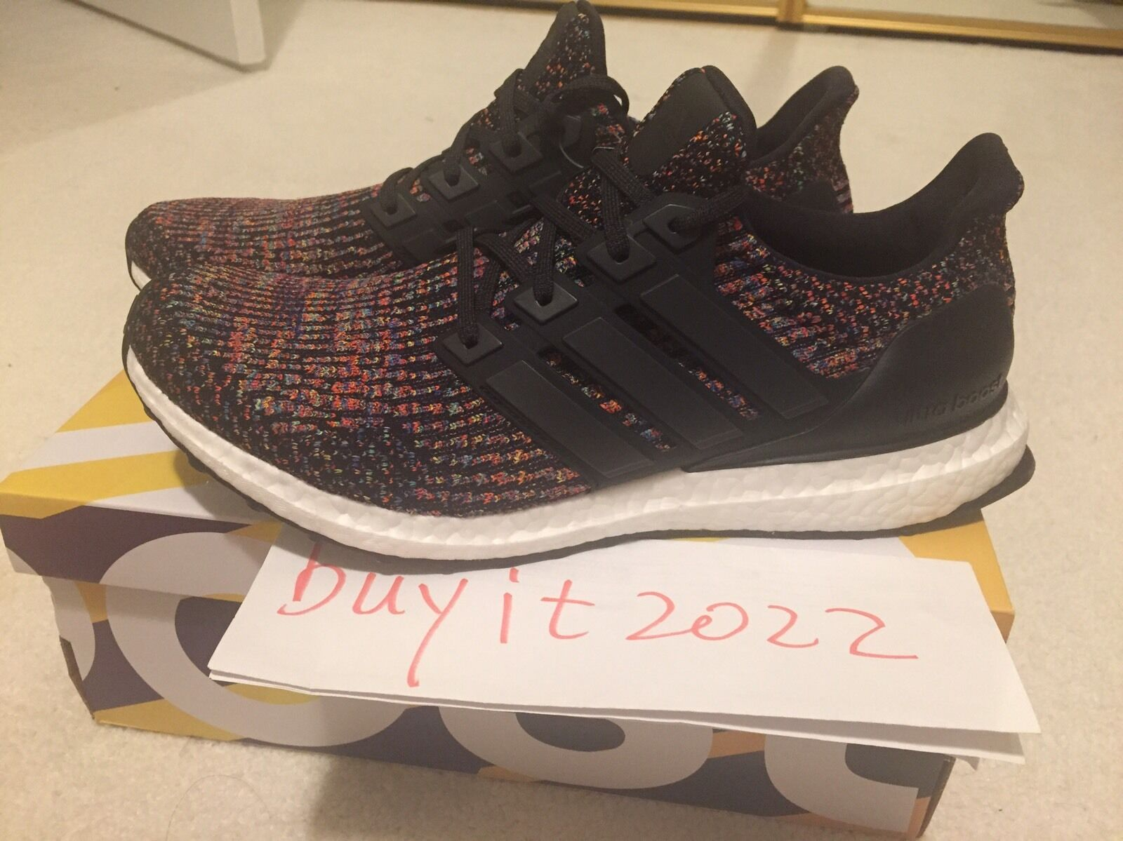 BRAND NEW Adidas Ultra Boost 3.0 Multi-color Rainbow