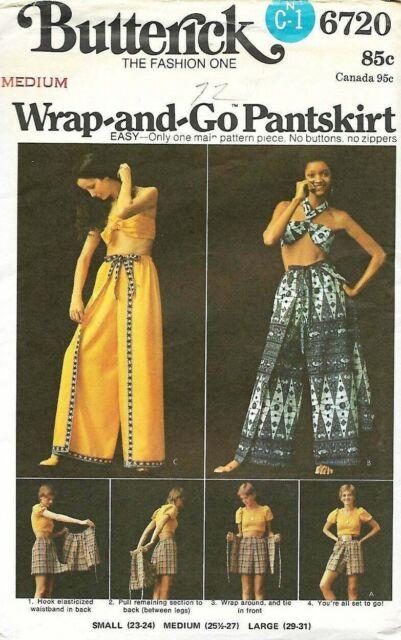 Butterick Pattern 6720, Vintage Pantskirt and Scarf Top, Size Medium