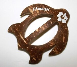 TURTLE-SARONG-BUCKLE-HAWAII-HAND-MADE-PAREO-WRAP-SKIRT-DRESS-HONU-CLIP-QTY-2