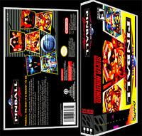 Super Pinball - Snes Reproduction Art Case/box No Game.