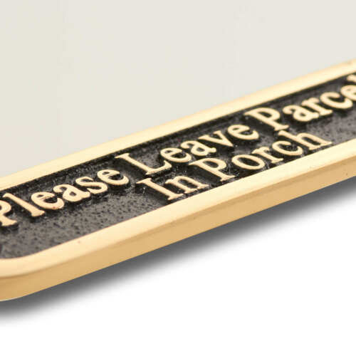 Please Leave Parcels In Porch Brass Sign Traditional Style Home Décor Plaque