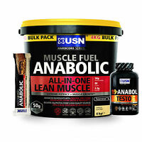 Usn Muscle Fuel Mass Gainer All In One Whey Protein Powder Free 19 Anabol Testo