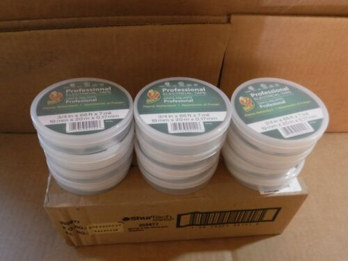 """NEW LOT OF 12 DUCK ELECTRICAL TAPE 3//4/"""" X 66 /' 7 MIL THICKNESS 600V 221 DEG F"""