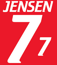 Denmark Jensen Nameset 2000 Shirt Soccer Number Letter Heat Print Football Home