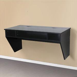 umax white black wall mount desk storage office computer