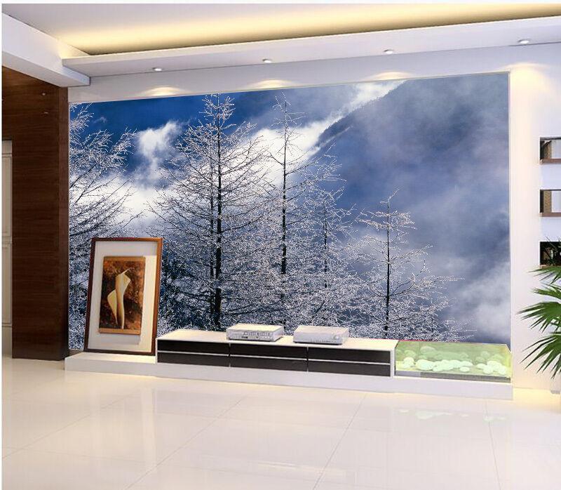 3D Schneeberg,Pflaume 797 Fototapeten Wandbild Fototapete BildTapete Familie DE