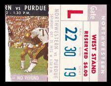 1972 Northwestern v Purdue Football Ticket 10/21/72 Ross-Ade Stadium 27529