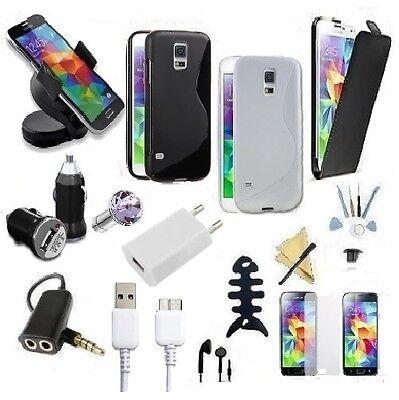 Samsung Galaxy S5 G901F Kfz Halterung Ladekabel Set Tasche Case Zubehör Halter