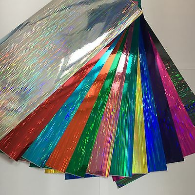 """Holographic Crystal Sign Vinyl Sample Pack 12 Sheets 8/"""" x 12 Inch HoloCrystal"""