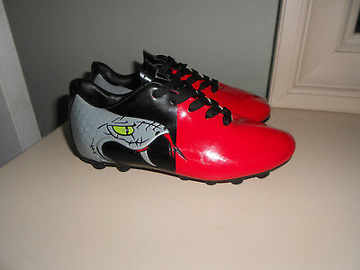 Red Black Vizari Snake Youth Soccer Cleats NEW