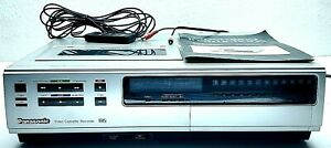 Vintage-Panasonic-Omnivision-VHS-Video-Cassette-Top-Loader-VCR-PV-1220