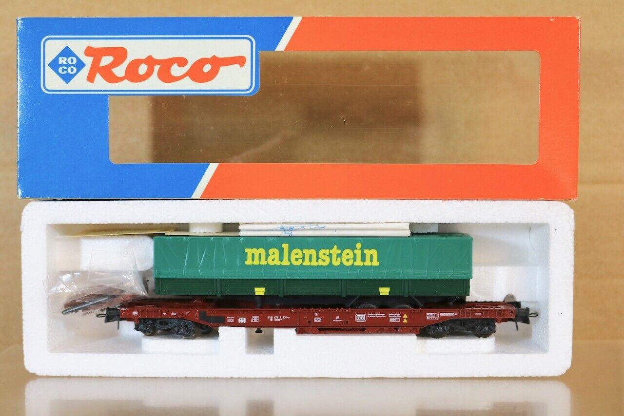Roco 46358 Db Cargo Sdkms Remorque Wagon & Malenstein Charge