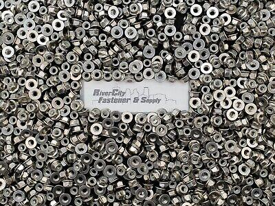 Zinc 3//8-16 Hex Flange Nylon Insert LockNuts Grade F 5 50