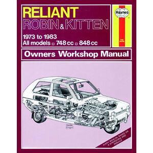 reliant robin kitten 748cc 848cc 73 83 up to a reg haynes manual rh ebay co uk Messerschmitt KR200 Morgan 3 Wheeler