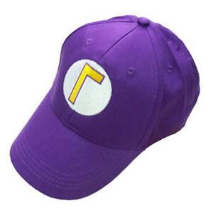 e820f67df56 Super Mario Bros Waluigi Bad Luigi Γ Letter Cap Sport Baseball Hat ...