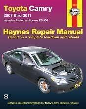 2007 2011 toyota camry service repair manual shop book owners 07 08 rh ebay com 2012 toyota camry se owners manual 2011 Toyota Camry SE Sport
