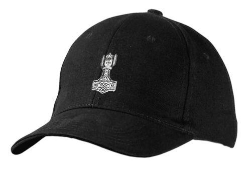 Baseballcap Cap Kapp schirmmuetze bonne nuit de noir avec stick Thorhammer 68457