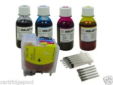 Refillable ink cartridge for Brother LC61 65 MFC-295CN MFC-490CW MFC-495CW+4X4OZ