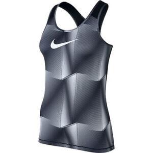 e8be674723b2c Details about NWT Nike Women's Dri-Fit Pro Cool Top Tank Size L Black/White  831236