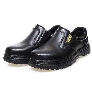 HOT Men Work Shoes Chef Kitchen Cook Anti-Slip Moccasins Comfy Slip On Loafers