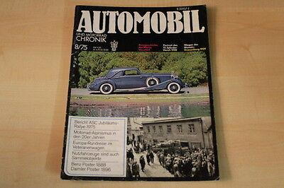 Vauxhall Rennwagen Horch 12 Zylinder Automobil Chronik 08/1975 Preiswert Kaufen 72280