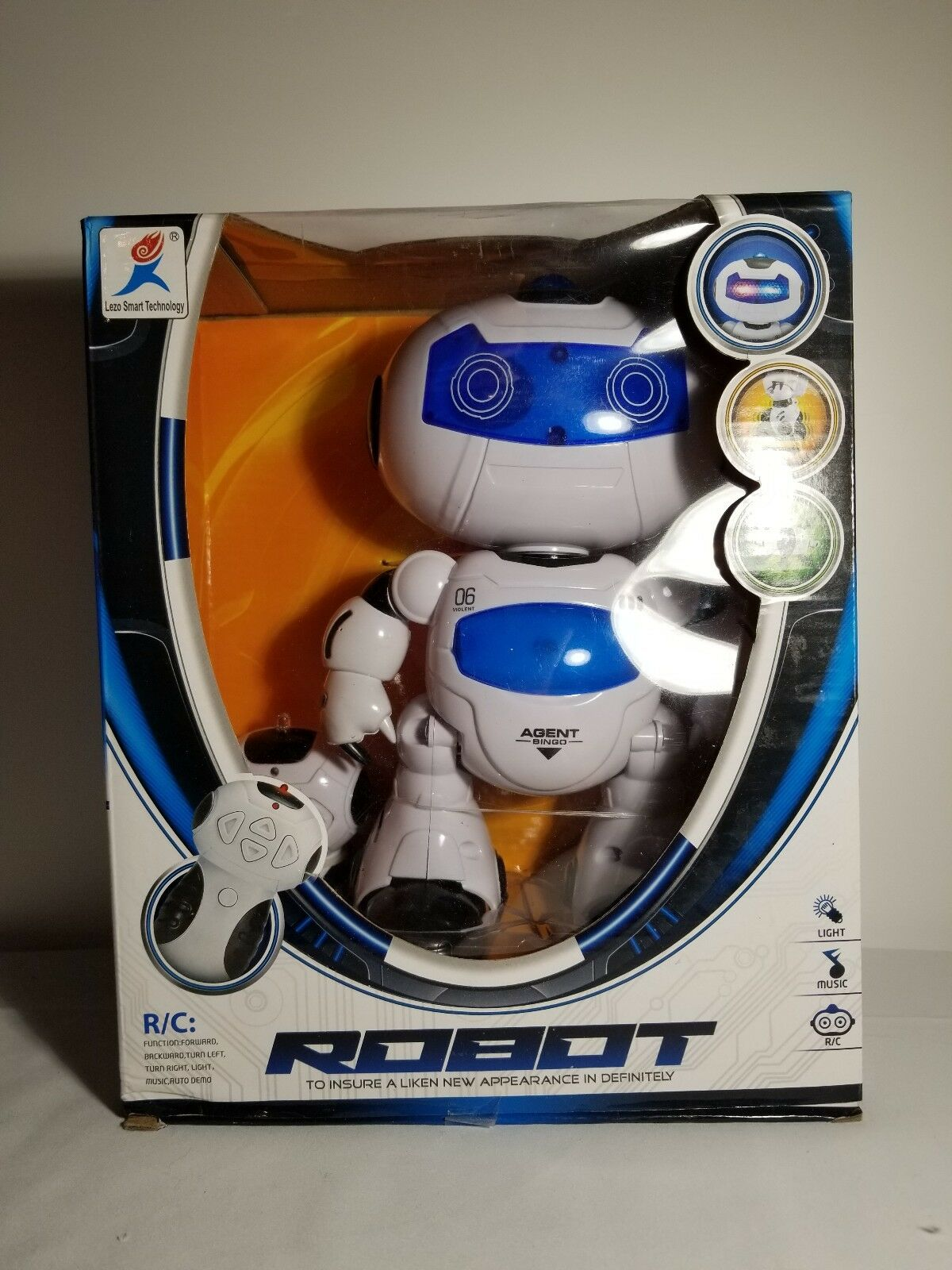 Electronic RC RC RC Robot Learning Toys Toddler Intelligent Action 3d0901