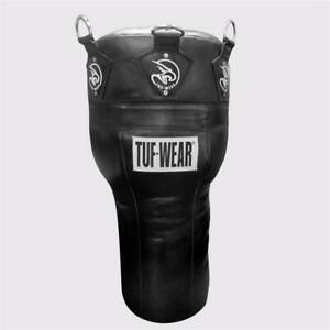 Tuf Wear Leather Angle Punchbag All Black