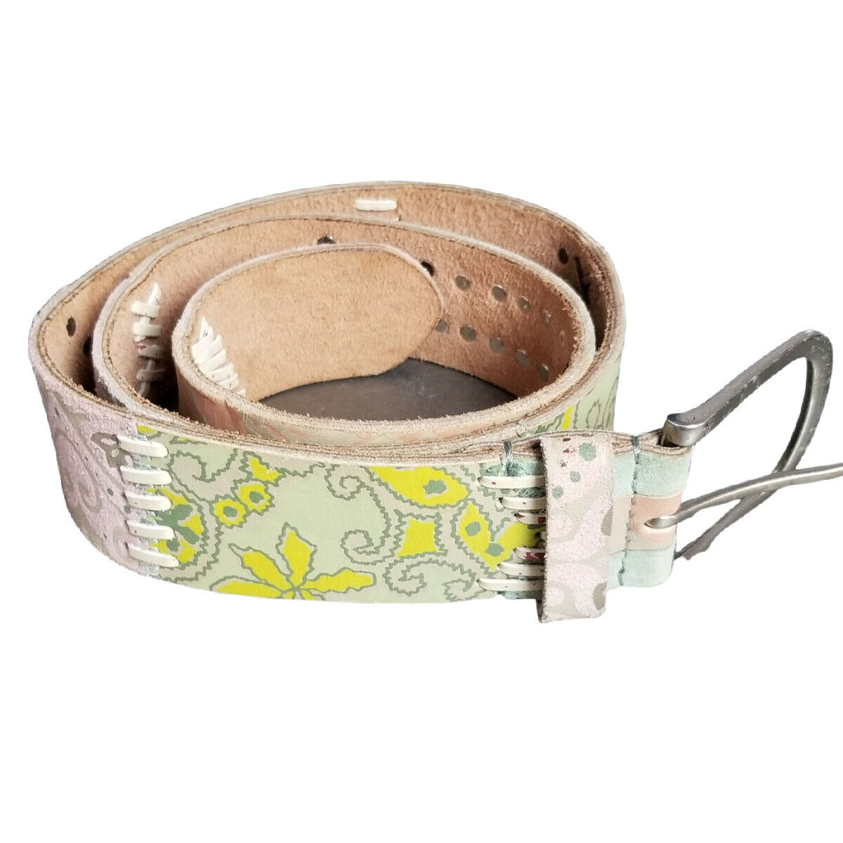 Fossil Women's Patchwork Leather Belt Size Small Multicolor BT3085998S