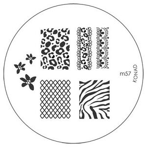 Konad Image Plate M57 Stamping Disc Diy Salon No1 Nail Art Uk