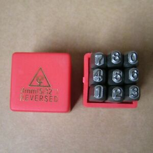 """2mm Steel Number Stamps Punch Dies Set New Free Shipping 9PC 5//64"""""""