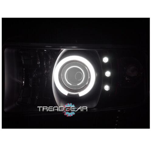 1994-2001 DODGE RAM TRUCK CCFL HALO LED BLACK PROJECTOR HEADLIGHT 1500 2500 3500