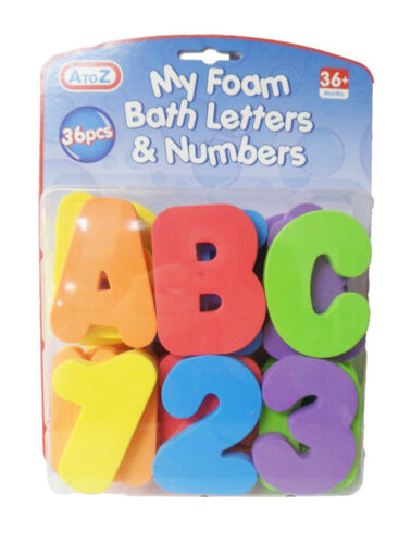 Fun 36 Pieces Colourful Educational My Foam Bath Letters and Numbers