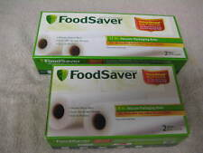 "UNOPENED Lot of 4 Food Saver Vacuum Packaging -2 rolls 8""x 22' 2 Rolls 11""x 18'"
