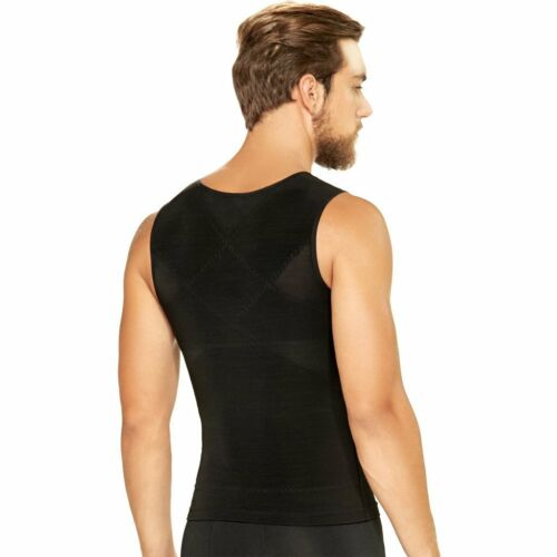 Fajas Colombianas Diane /& Geordi 2415 Men/'s Tummy Control Vest With Zipper