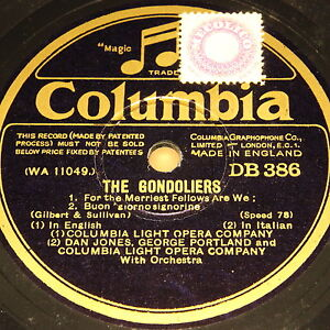 LIGHT-OPERA-COMPANY-034-The-Gondoliers-034-Columbia-6-Rec-Album-78rpm-10-034