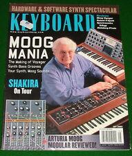 2003 Keyboard Magazine: ARTURIA MOOG MODULAR Review Voyager, ROLAND V-Synth
