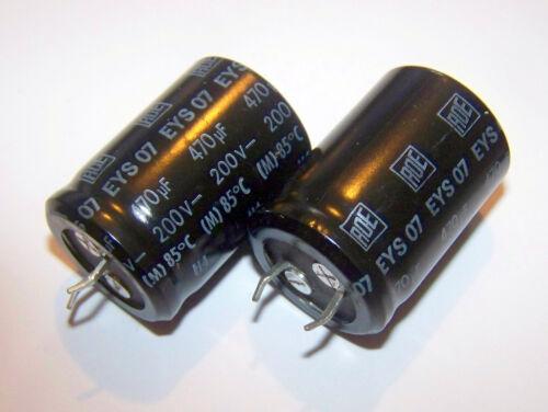 1 pezzo Condensatore elettrolitico 470uF 200V 85° SNAP IN ERO ROEDERSTEIN EYS