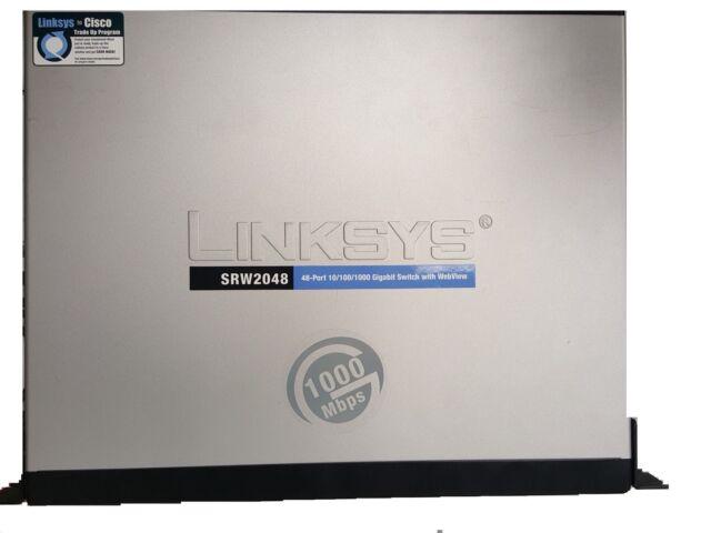 CISCO LINKSYS SRW2048 48-port Gigabit Managed Switch w/ WEB VIEW