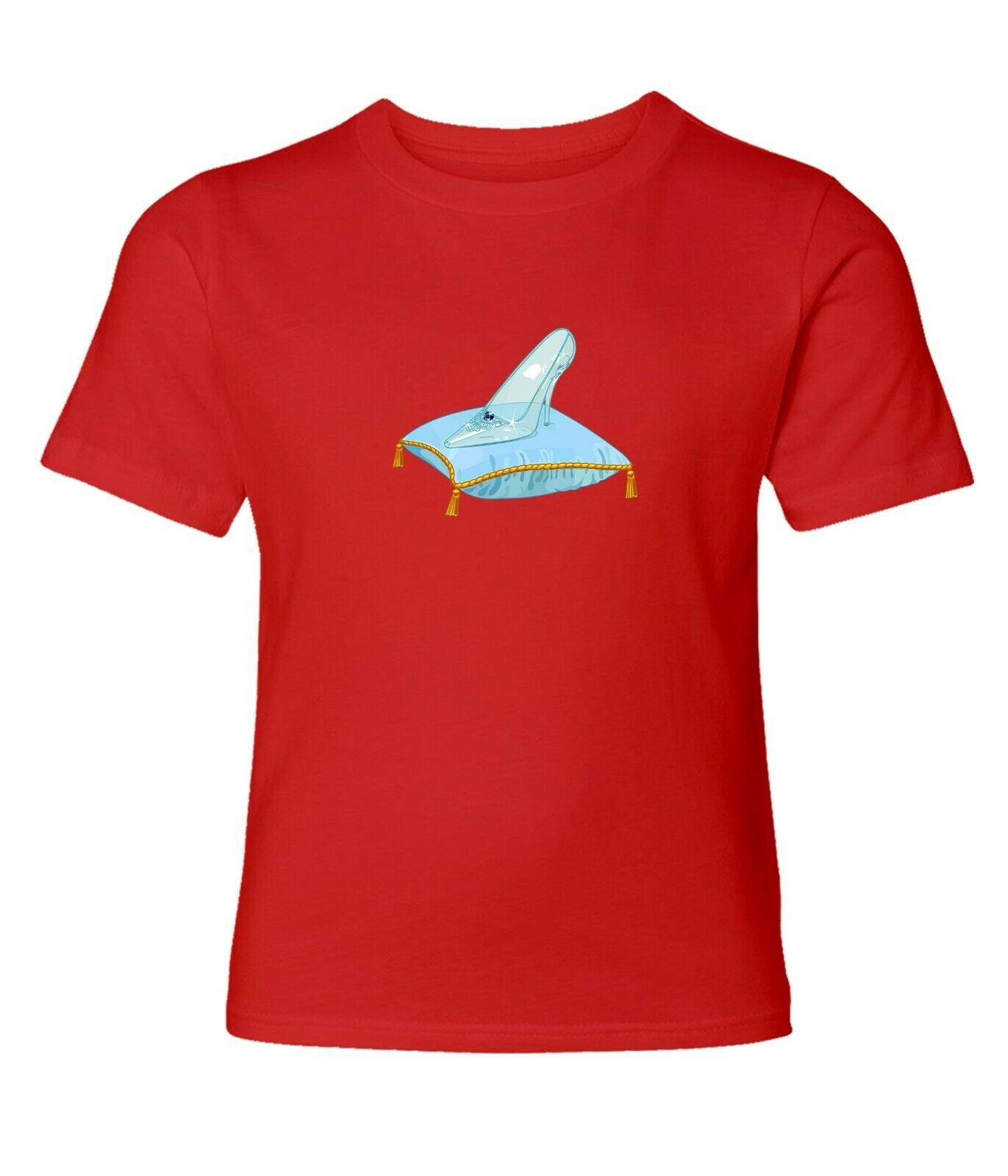 Disney Princess Cinderella Charming Glass Slipper Men Women Unisex T-shirt 806