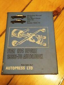 Vintage-Fiat-124-Sport-Autobook-Owner-039-s-Work-Shop-Manual-1966-70-Spyder-Coupe